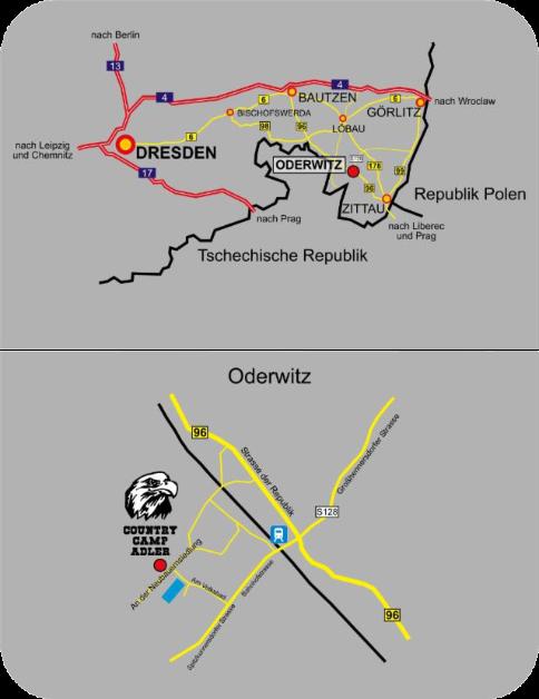Karte Anfahrt Country Camp Adler